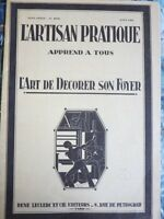 L'Artisan Pratique #302 August 1934 French Art and Design Trade Magazine