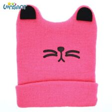 New Autumn  Cute Big Cute Baby Boys Girls Cat Ear Knit Keep Warm hat 0-24 months