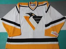 NEW NWT Authentic Pittsburgh Penguins White CCM Jersey Adult 56 Fight Strap