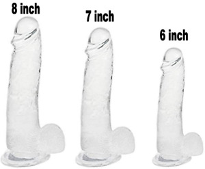 Jelly Dong Dildo Suction Cup - 3 Sizes Waterproof Realistic Cock Veined 5 Colors