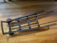 Vintage INDUSTRIAL HAND CART coffee table base Wood & Metal dolly truck rustic
