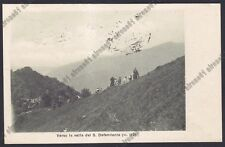 LECCO PERLEDO 13 Fraz. BOLOGNA - COLLEGIO S. CARLO - GITA Cartolina viagg. 1922