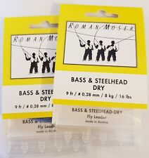 Roman Moser Bass-Steelhead Dry Vorfächer floating - 2er-Set  -  NEU