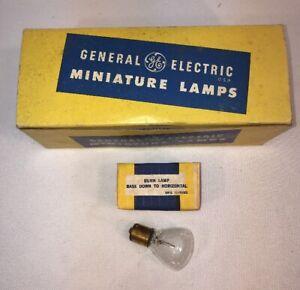Vtg NOS General Electric GE #1621 Burn Miniature Lamp Light Bulbs Box Of 9