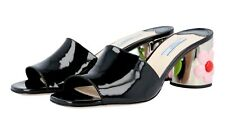 AUTH LUXURY PRADA SANDALS SHOES 1XX310 BLACK PATENT NEW US 9 EU 39 39,5 UK 6