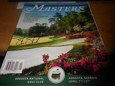 BRAND NEW 2014 OFFICIAL MASTERS PROGRAM AUTOGRAPHED BY PGA STEVE STRICKER