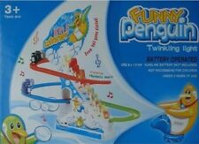 funny penguin race twinkling light
