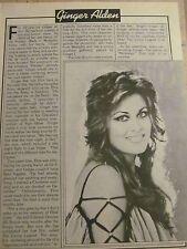 Ginger Alden, Elvis Presley, Full Page Vintage Clipping