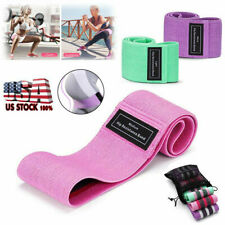 Fabric Resistance Bands Legs Butt Stretch Exercise Loops Workout Bands Set Hot