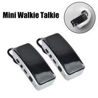 UHF Mini Walkie Talkie 400-470MHz Earpiece Style Two Way Radio Easy To Receive