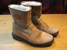 Men's Tecnica Country Leather And Shearling Boots 8.5