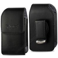 "OEM REIKO Universal Vertical Leather Case for Medium Size Flip Phone 4.25x2x0.9"""
