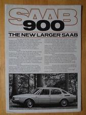 SAAB 900 Range 1978 UK Mkt Brochure Prospekt - Includes Turbo 3 & 5 Door