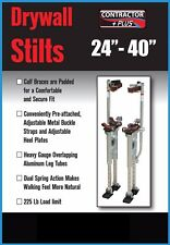 Contractor Plus Dual Spring Aluminum Drywall Stilts 24''-40''