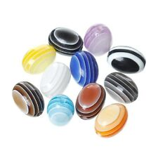 10 Perle Acrylique Ovale rayée 12mm x 9mm Mixte, raye, Creation Bijoux