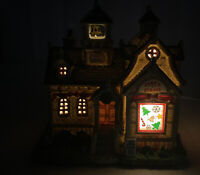 Lemax Carole Towne Jone's School Lighted Christmas Village  2013