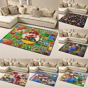 Super Mario 3D World Area Rug Living Room Bedroom Soft Flannel Floor Mat Carpet