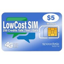 $5 Preloaded SIM Card | 2G 3G 4G LTE Nationwide Coverage | 30 Day Service Plan