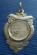 Sterling Silver Medal / Fob - Skittles / Ten Pin Bowling 1927  -  not engraved