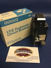 1 - New 20 Amp Pushmatic Bulldog Gould ITE Siemens P220 Double or 2 Pole Breaker