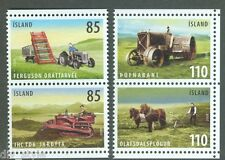 Farm Implements 2 se-tenant pairs mnh ex-booklet 2008 Iceland #1132-3 tractor