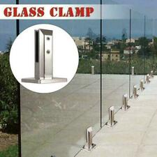 Railing Clamp Glass Clip Floor Standing Stairs Balcony Pool Balustrade Spig CL