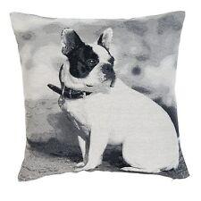 clayre & eef Funda de cojín perro bulldog CASA CAMPO nostalgía Shabby 45x45cm