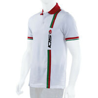 SIDI CASUALS POLO SHIRT-STRIPE WHITE TRACK PADDOCK MOTORCYCLE WEAR