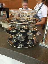 Vintage Style Champagne Saucers ***HIRE*** Clear Glass Wow! Tea Party Wedding ++