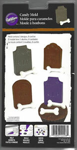 Tombstones and Bones Halloween Chocolate Candy Mold from Wilton 2498 NEW