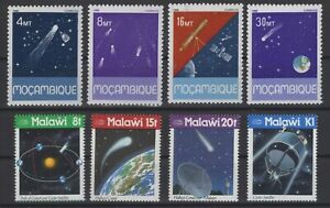 DK150079/ AFRICAN STAMPS / SPACE – HALLEY'S COMET – MALAWI – MOZAMBIQUE MINT MNH