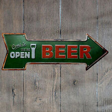 Metal Tin Sign come in open beer  Bar Pub Vintage Retro Poster Cafe ART