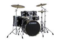 YAMAHA Stage Custom Birch 5 Piece Drum Set-SLG, Black -w. Hardware-SBP2F50 RB