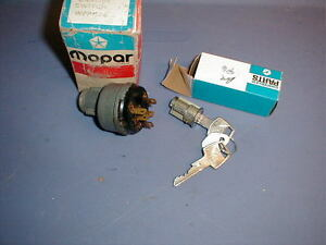 NOS MOPAR 1960-8 IGNITION SWITCH & LOCK /KEYS ALL