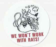 AFL CIO UNION PIPEFITTERS IRONWORKERS UA IBEW BOILERMAKERS RAT STICKER