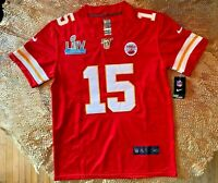Patrick Mahomes #15 KC Chiefs Red Super Bowl 54 Jersey Small