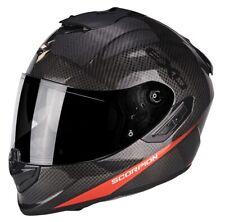 Casco Moto  Scorpion Exo 1400 Carbon Air PURE 1NR Nero Rosso taglia L