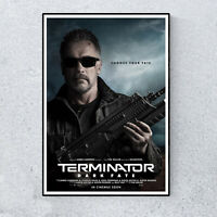 Terminator Dark Fate Arnold Promotional Film Movie Glossy Print Wall A4 Poster