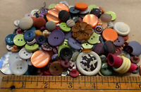 Vintage To Modern Plastic Button Colorful Lot 1980's Lot BT15