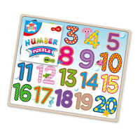 Kids Create Slim Wooden Sea Life Number Puzzle Board Pre-School Kids Toy Game 3+