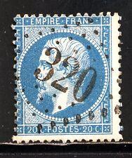 FRANCE  22 bleu foncé GC 320 BARJOLS, VAR, cachet net,TRES BEAU.Indice 4