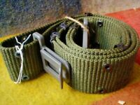 G9 ORIGINAL NYLON MILITARY BELT WITH METAL EYELETS 30 INCHES LARGE MADE USA