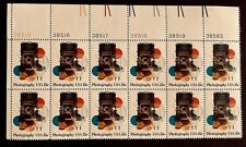 US Stamps, Scott #1758 15c 1978 Photography Issue Plate Block of 12 XF/Sup M/NH