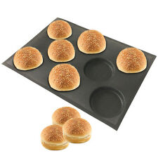 Silicone Hamburger Forms Non Stick Silicone Baking Mold Perforated Tray For Bun