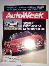 Autoweek Magazine New Ferrari LM Monaco Grand Prix June 8, 1987 011717RH
