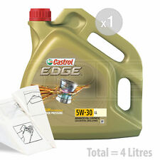 Car Engine Oil Service Kit / Pack 4 LITRES Castrol EDGE 5w-30 LL 4L