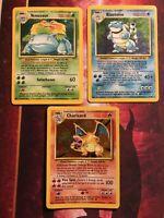 Charizard 4/102 Blastoise Venusaur Holo Foil Rare Base Set Cards Pokemon Card