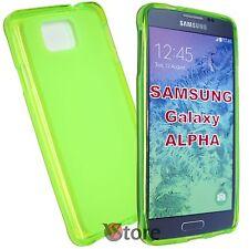 Cover Custodia Per Samsung Galaxy Alpha G850 G850F VERDE Silicone  GEL TPU