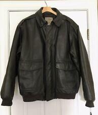 L.L.Bean  Goatskin Flying Tiger Bomber Leather Jacket XL