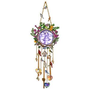 Kirks Folly Home Sweet Home Wild Flower Goddess Seaview Moon Wind Chime goldtone